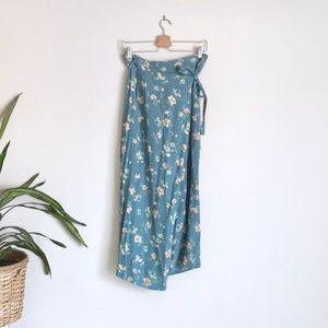 Gap | Vintage Floral Wrap Skirt